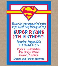 Spiderman Birthday Invite with amazing invitations design