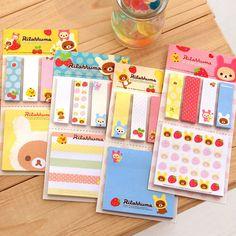 Rilakkuma Cute Cartoon Bear Sticky Notes Memo Pad School Supplies Planner Stickers Paper Bookmarks Korea Stationery