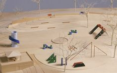 Completed in Noguchi's Playscape in Atlanta's Piedmont Park was Noguchi's only playground to be built during his lifetime. Atelier Architecture, Architecture Details, Landscape Architecture, Isamu Noguchi, Playground Design, Park Playground, Landscape Model, Landscape Design, Neoclassical Interior