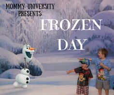 How to Plan a Frozen day with your kids whether for fun or whether you are looking for camp ideas.