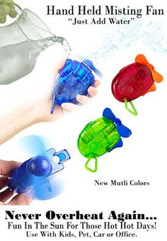 """New Battery Powered Hand Held Misting Fan """"The Fastest Way To Cool Down Quick."""""""