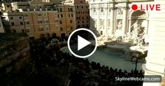 Live images of the Trevi Fountain in Rome