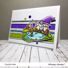 Claudia's Karteria: Gnomischer Fisch zum Ruhestand | Gnomish fish for ... Claudia S, Whimsy Stamps, Masculine Cards, Gnomes, I Card, Special Occasion, Snoopy, Cool Stuff, Awesome
