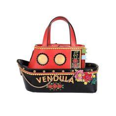 The Love Boat Grab Bag | Women's Handbags and Purses | Vendula London | Leather Handbag shaped like a boat #quirky #fun #leather #handbags