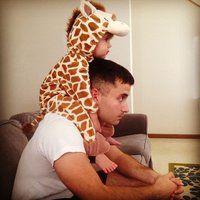 Straight chillin' in a Giraffe costume.