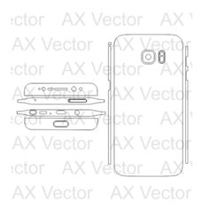 Samsung Galaxy S7 Edge Vector Template