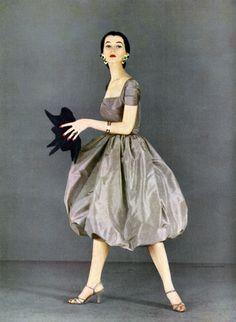 Harper's Bazaar, February 1951. Dovima photographed by Richard Avedon.  Happy Birthday Dovima  (December 11, 1927 – May 3, 1990)
