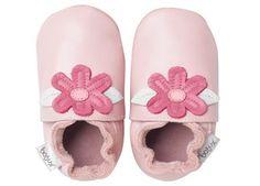 rozige babyslofjes met bloemetje