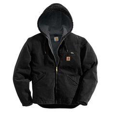 Carhartt Men's Sherpa Lined Sandstone Sierra Jacket (Regular and Big & Tall) Carhartt Jacket, Carhartt Shirts, Workwear Store, Mens Sherpa, Sherpa Lined, Line Jackets, Black Cotton, Green Cotton, Work Wear