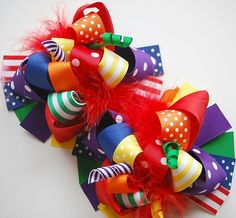 boutique FUNKY fun RAINBOW COLLECTION hair bow