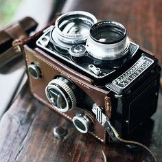 Rolleiflex vintage camera. Sleek and stylish
