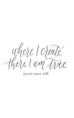Rainer Maria Rilke, calligraphy quote, handlettering