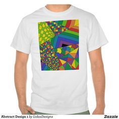 Abstract Design 1 Value T-Shirt #cool #abstract #colourful #colour #art #geometric #illustration #unique #custom #original #creative #design #tshirts