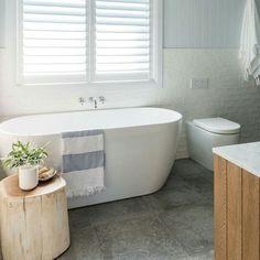 Gorgeous bathroom by Beaumont tiles - love these colours Wood Floor Bathroom, Bathroom Windows, Laundry In Bathroom, Bathroom Layout, Small Bathroom, Bathroom Grey, Master Bathroom, Bathroom Ideas, Beaumont Tiles