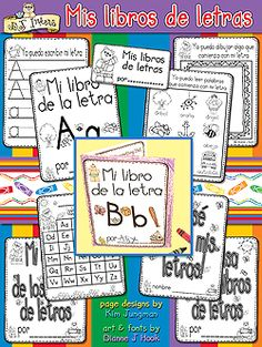 'Mis Libros de Letras' learning printables download will make teaching the alphabet in Spanish a breeze!  These printable mini books are perfect for bilingual or dual-language teaching of letter & sound recognition, handwriting practice, building vocabulary & MORE!  Also includes reward cards, handwriting practice pages for each letter, storage labels, AND 2 pages of ideas & suggestions!  See details for more info & samples.