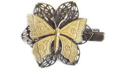 Butterfly Hair Clip   Handmade Hair by SophiesHatsandMore on Etsy, $5.00
