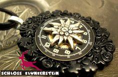 DIE ZEIT DES EDELWEIß - Medaillon  von Schloss Klunkerstein - Uhren, von Hand gefertigter Unikat - Schmuck aus Naturmaterialien, Medaillons, Steampunk -, Shabby - & Vintage - Schätze, sowie viele einzigartige und liebevolle Geschenke ... auf DaWanda.com