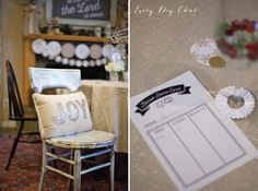 Minted Christmas party decor
