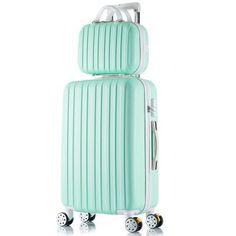 Elegant High-Quality Fashion Universal Wheel Trolley Hardside Luggage Set 8 Colors 3 Sizes