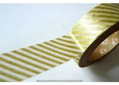 Gold Washi Tape Japanese Gold Stripe Paper Tape by PrettyTape Mt Tape, Masking Tape, Gold Paper, Paper Tape, Gold Washi Tape, Confetti Bags, Jar Art, Project Life Cards, Decorative Tape