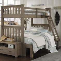 Create a space that offers a casual style and relaxing comfort with this bunk bed