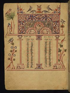 Canon table Form: Full-page miniature Text: Eusebian canons  W541