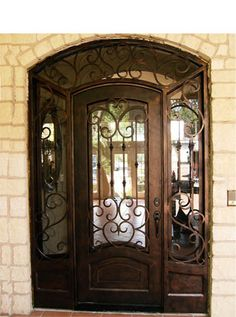 single door w sidelights and transom