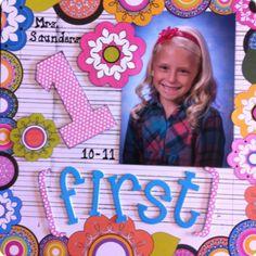 First Grade School Picture - Scrapbook.com