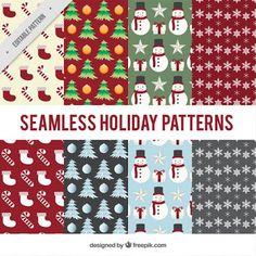 Papeis natalino Vintage Christmas, Vector Free, Pattern Design, Holiday Decor, Scrap, Printables, Silhouette, Kit, Digital