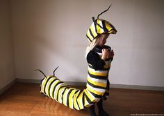 The Cardboard Collective: Monarch Caterpillar Costume from the cardboardcollective.com