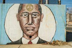 Obama, man of peace, The Avon School, Chadwick Ave. at Rose Terrace, Newark, 2014