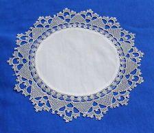 Elegant  Antique Handmade Armenian Lace  Doily  – not crochet!