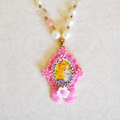 barbie cameo necklace