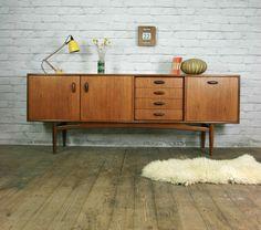 G-plan Retro Vintage Teak Mid Century Sideboard Eames Era 1950s 60s