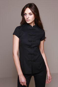 StyleMonarchy Spa Uniform - Shanghai Tunic & Cordoba Pants Black, Asian-inspired Spa Uniform                                                                                                                                                                                 More