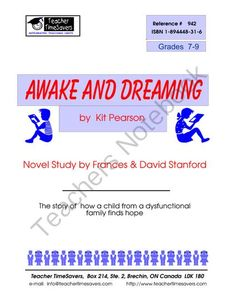 Awake and Dreaming by Kit Pearson.   from Teacher Timesavers on TeachersNotebook.com (66 pages)