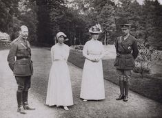 Albert I, King of the Belgians King George V Queen Mary Elisabeth of Bavaria, Queen of Belgium