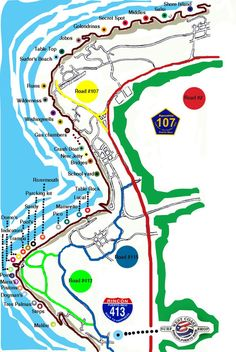 Rincon PR - Surfer's Beach Map For Rincon - > Rivermouth > Parking Lot  > Sandy > Pools Beach > Trampa > Domes > Deathman's > Indicators > The Pointe > Marias > Pistons > Dogman's > Tres Palmas > Steps > Malibu...all these and more!!! For more information on all of Rincon, Puerto Rico please visit www.surfrinconpr.com