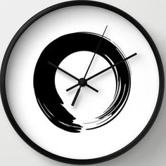 zen wall clock - The Zen Wall Clock by Hellena not only gives the gift of time, but also of tranquility. Although the design is modern and minimalist overall, it br. Zen, Wall Clock Design, Modern Retro, Interior Lighting, Alarm Clock, Home Accessories, Design Inspiration, Wall Decor, Black And White