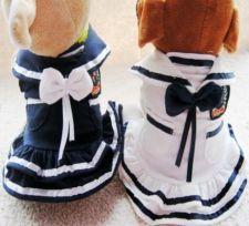 Dog Pet Puppy Apparel Princess Navy Dress 2 Colors free shipping Size XS,S,M,L