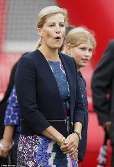 Day out: The Countess was with her 11-year-old daughter Lady Louise Windsor for the outing Aug 30, 2015.