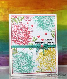 Goodbye Summer 2018 by - Cards and Paper Crafts at Splitcoaststampers Wedding Anniversary Cards, Happy Anniversary, Wedding Cards, Altenew Cards, Stampin Up Cards, Flower Cards, Paper Flowers, How To Make A Gift Bag, Card Making Techniques