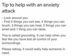 Grounding exercise for panic / anxiety attack