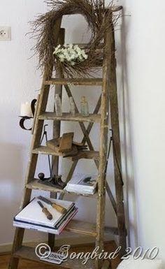 Old Garden Ladders On Pinterest Old Ladder Ladder And