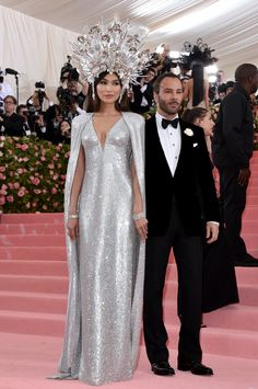 Tom Ford and Gemma Chan in Tom Ford wearing Forevermark jewelry
