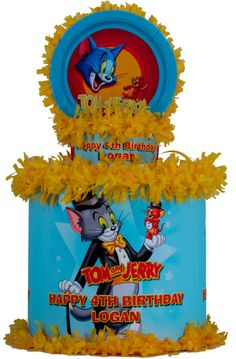 World of Pinatas - Tom and Jerry Personalized Pinata, $39.99 (http://www.worldofpinatas.com/tom-and-jerry-personalized-pinata/)