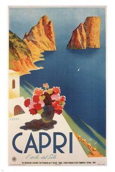 Capri, Italy vintage travel