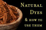 Detailed instructions on how to use natural dyes.