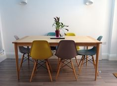 Dining area. Eames and Valder Oak