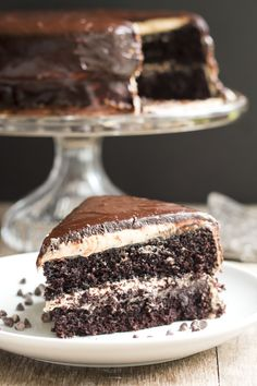 Gluten Free with L.B. | Dark Chocolate and Peanut Butter Midnight Cake | http://glutenfreewithlb.com